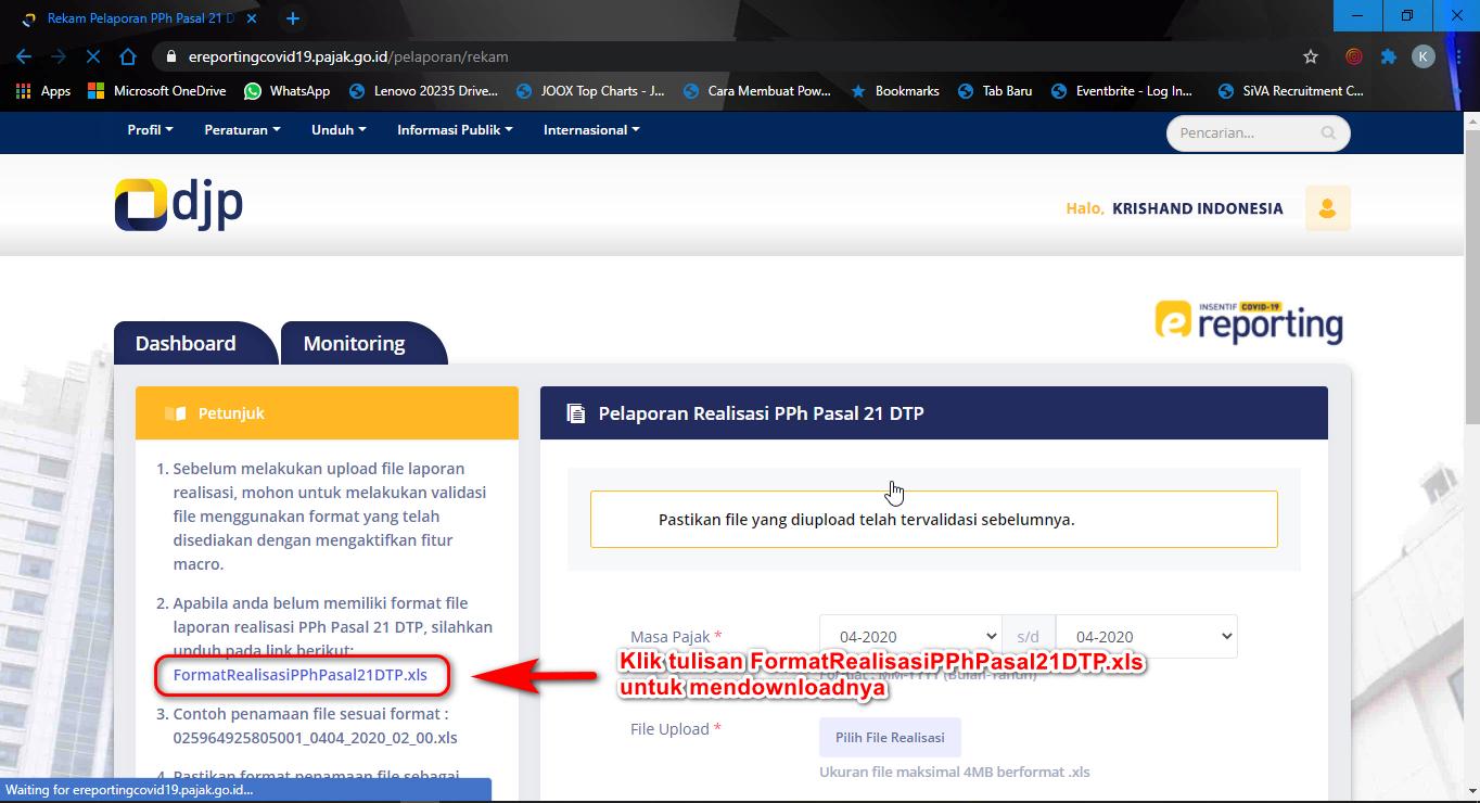 Download Excel Format Realisasi Pph 21 Dtp
